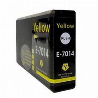 Inkoustová náplň BULK kompatibilní s T7014, žlutá (yellow)